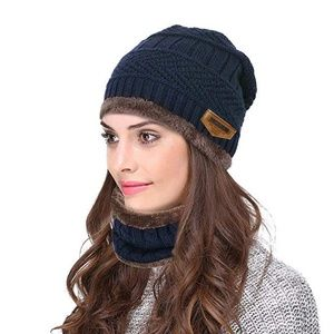 1af0e17cca75a Accessories - Unisex Winter Beanie Hat with Neck Warmer